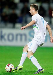 Andraz Sporar of Slovenia during football match between U21 National Teams of Slovenia and Russia in 6th Round of U21 Euro 2015 Qualifications on November 15, 2013 in Stadium Bonifika, Koper, Slovenia. Russia defeated Slovenia 1-0. Photo by Vid Ponikvar / Sportida