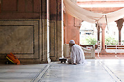 India, Delhi, The Red Fort Pearl Mosque (Moti Masjid)