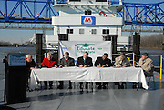 University Presidents Unite to Sign Memorandum of Understanding aboard barge on the Ohio River...Presidents in order from left to right..Dr. Michael Moore, Provost and Executive Vice President.Morehead State University..Dr. Rita Rice Morris, President.Shawnee State University..Dr. Gregory D. Adkins, President.Ashland Community and Technical College..Dr. Stephen Kopp, President.Marshall University..Dr. Roderick J. McDavis, President.Ohio University..Dr. Herman Koby, Interim Dean,.Rio Grande Community College..Dr. Robert Hayes, Interim Dean.Marshall Community and Technical College..I am sending a summary of the Educate the Tri-State event held today. ..Presidents and representatives from seven universities in Ohio, West Virginia and Kentucky were present as part of the Educate the Tri-State initiative to work together to offer students easier access to degree programs and other information. ..The luncheon was held at Bellefonte Country Club in Ashland, Kentucky with each university president giving remarks on working together to better educate the residents of the area...A website designed to increase awareness of the educational opportunities available within the Tri-State area was demonstrated by Dr. Charles P. Bird, Vice President, University Outreach and Regional Campuses. The intended audience for the website will be prospective students, parents and guidance counselors. The website www.educatethetristate.com is in its initial stages and will be updated as the project continues. ..Immediately following the luncheon presentation, the event moved to the 15th Street Ashland Boat dock to board a barge provided by Marathon Petroleum. As the barge cruised the Ohio River, which connects all three states, each President signed a copy of the Memorandum of Understanding. The document was drafted by Dr. Charles P. Bird. (if you need a copy, please let me know. You may want to interview Charlie as well)..WSAZ Channel 3 and various newspapers covered the event. The event wil