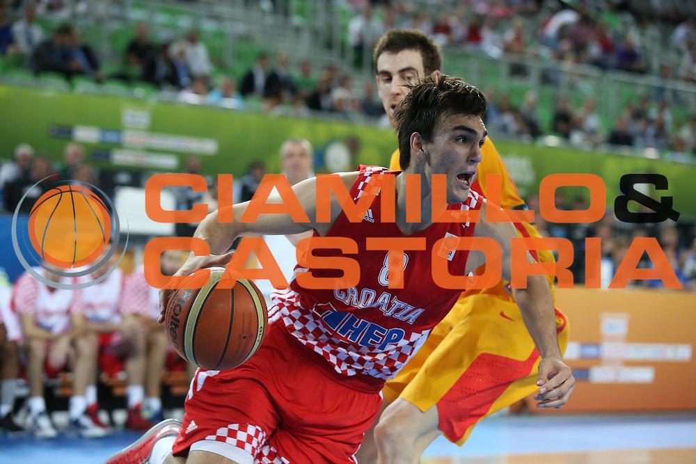 DESCRIZIONE : Lubiana Ljubliana Slovenia Eurobasket Men 2013 Finale Terzo Quarto Posto Spagna Croazia Final for 3rd to 4th place Spain Croatia<br /> GIOCATORE : Dario Saric<br /> CATEGORIA : palleggio dribble<br /> SQUADRA : Croazia Croatia<br /> EVENTO : Eurobasket Men 2013<br /> GARA : Spagna Croazia Spain Croatia<br /> DATA : 22/09/2013 <br /> SPORT : Pallacanestro <br /> AUTORE : Agenzia Ciamillo-Castoria/ElioCastoria<br /> Galleria : Eurobasket Men 2013<br /> Fotonotizia : Lubiana Ljubliana Slovenia Eurobasket Men 2013 Finale Terzo Quarto Posto Spagna Croazia Final for 3rd to 4th place Spain Croatia<br /> Predefinita :
