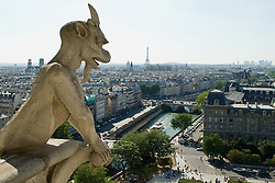 Jul. 25, 2012 - Gargoyle on notre dame cathedral paris (Credit Image: å© Image Source/ZUMAPRESS.com)