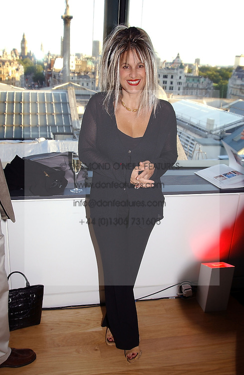 Fashion designer ELIZABETH EMANUEL at a party to celebrate the UK launch of Diana:The Portrait, the authorised book about the late Princess Of Wales's life and work, held at the National Portrait Gallery, London on 1st September 2004.  The book was commissioned by The Diana, Princess of Wales Memorial Fund and writen by Ros Coward.