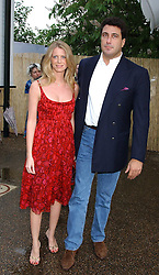 MR EDUARDO TEODORANI-FABBRI nephew of Fiat chief Giovanni Agnelli and FRANCESCA NARDI at the annual Serpentine Gallery Summer Party co-hosted by Jimmy Choo shoes held at the Serpentine Gallery, Kensington Gardens, London on 30th June 2005.<br /><br />NON EXCLUSIVE - WORLD RIGHTS