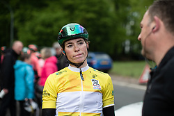 Demi Vollering (NED) of Parkhotel Valkenburg Cycling Team expresses her disappointment after Stage 1 of 2019 Festival Elsy Jacobs, a 107.1 km road race starting and finishing in Steinfort, Luxembourg on May 11, 2019. Photo by Balint Hamvas/velofocus.com