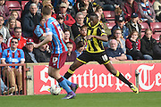 Burton Albion forward Lucas Akins (10)  during the Sky Bet League 1 match between Scunthorpe United and Burton Albion at Glanford Park, Scunthorpe, England on 9 April 2016. Photo by Ian Lyall.