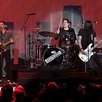 Rock band Dashboard Confessional perform on stage at the 2018 iHeartRadio ALTer EGO festival at The Forum on Friday, Jan. 19, 2018, in Inglewood, CA. (Photo by Willy Sanjuan/Invision/AP)