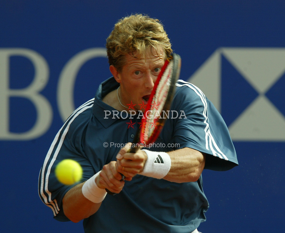 MONTE-CARLO, MONACO - Tuesday, April 15, 2003: Jonas Bjorkman (Sweden) in action during the 1st Round of the Tennis Masters Monte-Carlo. (Pic by David Rawcliffe/Propaganda)