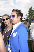 Tiziano Mazzilli and Camilla Berger.     Cartier International Polo 2000. Smiths Lawn.  31/7/00<br />© Copyright Photograph by Dafydd Jones 66 Stockwell Park Rd. London SW9 0DA Tel 020 7733 0108 www.dafjones.com