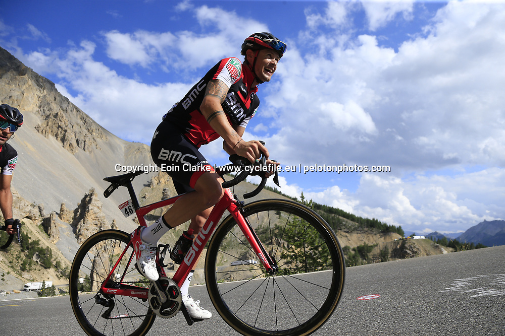 Nicolas Roche (IRL) BMC Racing Team climbs through the Caisse Deserte on Col d'Izoard during Stage 18 of the 104th edition of the Tour de France 2017, running 179.5km from Briancon to the summit of Col d'Izoard, France. 20th July 2017.<br /> Picture: Eoin Clarke   Cyclefile<br /> <br /> All photos usage must carry mandatory copyright credit (&copy; Cyclefile   Eoin Clarke)