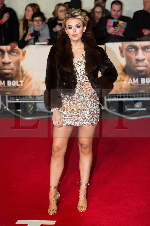 © Licensed to London News Pictures. 28/11/2016. TALLIA STORM attend's the I Am Bolt world film premiere. London, UK. Photo credit: Ray Tang/LNP