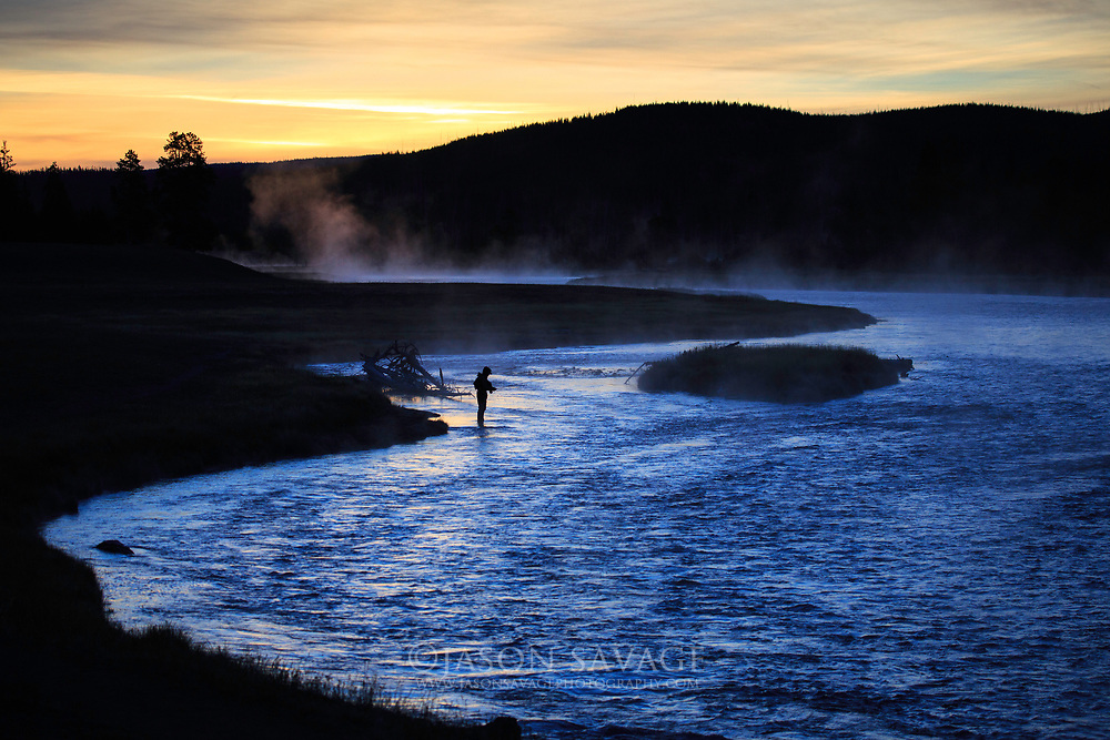 Fly Fishing on the Madison River, Montana.