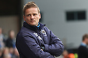 AFC Wimbledon manager Neal Ardley during the EFL Sky Bet League 1 match between Peterborough United and AFC Wimbledon at ABAX Stadium, London Road, Peterborough, England on 22 October 2016. Photo by Stuart Butcher.