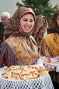 Sardegna, Italia, Sant'Antioco, festa del Patrono Sant'Antioco, giorno dei pani sardi, is coccoi.