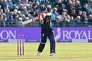 Jonny Bairstow of England plays an attacking shot during the third Royal London One Day International match between England and Pakistan at the Bristol County Ground, Bristol, United Kingdom on 14 May 2019.
