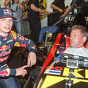 NLD/Zandvoort/20150628 - F1 demo Max Verstappen in de Toro Rosso, Max Verstappen en zijn vader Jos Verstappen