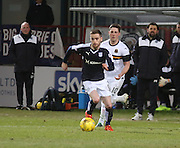 Dundee&rsquo;s Nick Ross strides away from Dumbarton&rsquo;s Jordan Kirkpatrick - Dundee v Dumbarton, William Hill Scottish Cup Fifth Round at Dens Park<br /> <br />  - &copy; David Young - www.davidyoungphoto.co.uk - email: davidyoungphoto@gmail.com
