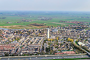 Nederland, Zuid-Holland, Gemeente Zederik, 01-04-2016; Meerkerk gelegen aan de A27 met karakteristiek betonnen watertoren.<br /> Small village in central Holland with water tower.<br /> luchtfoto (toeslag op standard tarieven);<br /> aerial photo (additional fee required);<br /> copyright foto/photo Siebe Swart