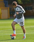 Jak McCourt on the ball during warmup before the Sky Bet League 1 match between Bury and Port Vale at Gigg Lane, Bury, England on 19 September 2015. Photo by Mark Pollitt.
