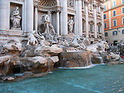 The Trevi Fountain, located in Rome, Italy. Made between 1732-1762 AD. Designed by Nicola Salvi, and completed by Giuseppe Pannini. It is the largest Baroque fountain in Rome and one of the most famous fountains in the entire world.