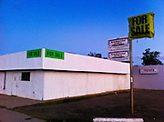 20 NOVEMBER 2011 - PHOENIX, AZ: A closed business for sale on N 24th Street near Osborn Rd in Phoenix, AZ. PHOTO BY JACK KURTZ