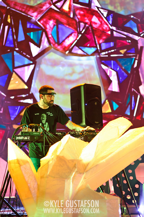 WASHINGTON, DC - July 9th, 2011 - Geologist of Animal Collective performs at Merriweather Post Pavilion in Columbia, MD. The band named their eighth studio album after the venue.  (Photo by Kyle Gustafson/For The Washington Post)