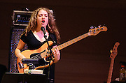 "Tal Wilkenfeld at Herbie Hancock's ""Seven Decades: The Birthday Celebration"" at Carnegie Hall. June 24, 2010"