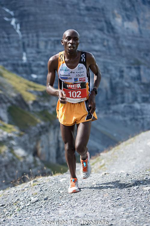 Sieger der 21. Jungfrau-Marathon 2013 Ndungu Geoffry Gikuni