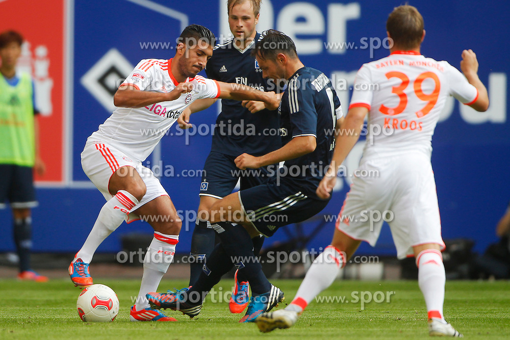 Football - soccer: LIGA total! Cup 2012, FC Bayern Muenchen - Hamburger SV (HSV), .Emre Can (FC Bayern Muenchen, #36), Heiko Westermann (Hamburger SV, #4) *** Local Caption *** © pixathlon