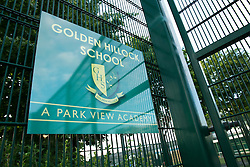 © Licensed to London News Pictures. 09/06/2014. Golden Hillock School, Small Heath, Birmingham, UK. Pictured, Golden Hillock School, one of the schools believed to have been put into special measures by OFSTED. Photo credit : Dave Warren/LNP