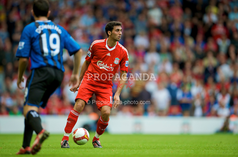 LIVERPOOL, ENGLAND - Saturday, August 23, 2008: Liverpool's Alvaro Arbeloa in action against Middlesbrough during the Premiership match at Anfield. (Photo by David Rawcliffe/Propaganda)