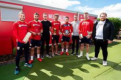 Andreas Weimann, Bailey Wright, Lloyd Kelly, Josh Brownhill and Adam Webster meet the Dunder Challenge winners - Ryan Hiscott/JMP - 25/04/2019 - PR - Failand - Bristol, England - Bristol City End of Season Awards