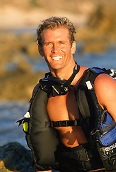 Scuba Diver Smiling By The Water