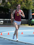 Chloe Berry of Southern California places fourth in the women's 1,500m in 4:32.44 during a collegiate dual meet against UCLA at Drake Stadium in Los Angeles, Sunday, April 29, 2018.