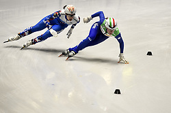 February 8, 2019 - Torino, Italia - Foto LaPresse/Nicolò Campo .8/02/2019 Torino (Italia) .Sport.ISU World Cup Short Track Torino - 3000 meter Ladies Relay Quarterfinals.Nella foto: Prosvirnova Sofia, Martina Valcepina..Photo LaPresse/Nicolò Campo .February 8, 2019 Turin (Italy) .Sport.ISU World Cup Short Track Turin - 3000 meter Ladies Relay Quarterfinals.In the picture: Prosvirnova Sofia, Martina Valcepina (Credit Image: © Nicolò Campo/Lapresse via ZUMA Press)