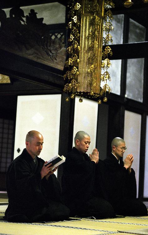 LIVING ZEN - HOSHINJI MONASTERY, OBAMA-JAPAN..Morning sutra service.
