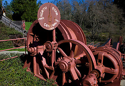 Mining equipment from the North Star Central Mine Company, Grass Valley, California, United States of America