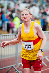 Sheffield Half Marathon runners race for the Finish Line Sunday Morning...12 May 2013.Image © Paul David Drabble