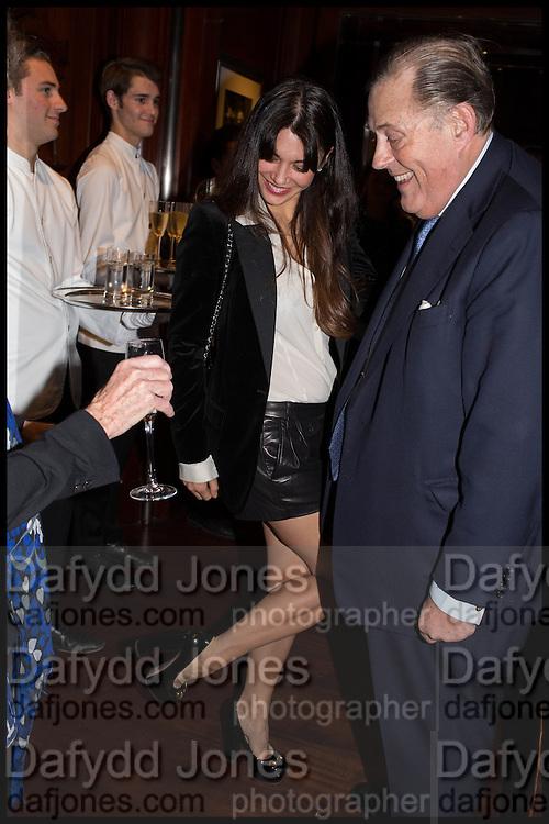 LOHRALEE ASTOR; DAVID KER, Ralph Lauren host launch party for Nicky Haslam's book ' A Designer's Life' published by Jacqui Small. Ralph Lauren, 1 Bond St. London. 19 November 2014
