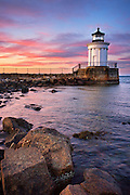 "One of my favorite parks in Maine is Bug Light Park in South Portland. There is an everyman quality to this little piece of heaven, overlooking the waterfront with stunning views of the city skyline. The centerpiece of the park is this little gem, built in 1875 in a beautiful Greek architectural style. At only 26 feet tall, the Portland Breakwater Light is affectionately called ""Bug""."