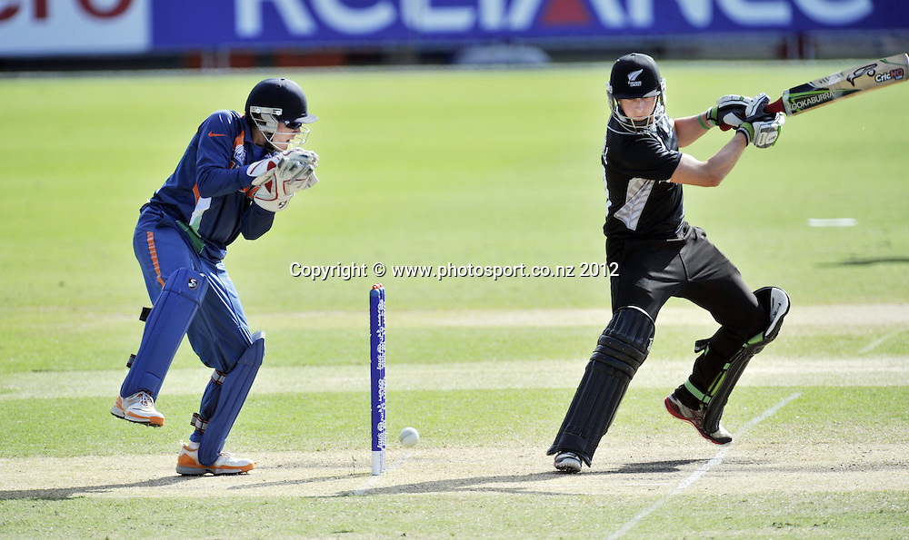 U19 ICC Cricket World Cup being played at Tony Ireland Stadium, Townsville, QLD, Australia. Robert O'Donnell in action.