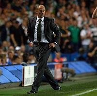 Photo: Daniel Hambury.<br />Chelsea v Werder Bremen. UEFA Champions League, Group A. 12/09/2006.<br />Bremen's coach Thomas Schaaf.
