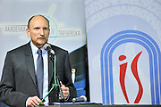 Dr Konrad Witek (Sport's Institute) speaks during conference of olympic trainers and coaches at COS (Centralny Osrodek Sportowy) in Spala on May 14, 2014.<br /> <br /> Poland, Spala, May 14, 2014<br /> <br /> Picture also available in RAW (NEF) or TIFF format on special request.<br /> <br /> For editorial use only. Any commercial or promotional use requires permission.<br /> <br /> Mandatory credit:<br /> Photo by &copy; Adam Nurkiewicz / Mediasport