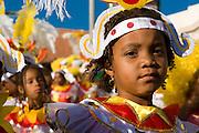 Portrait of little girl.  Carnival. Mindelo. Cabo Verde. Africa.