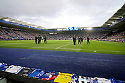 The fans and the tribute on the big screen before the Premier League match between Leicester City and Burnley at the King Power Stadium, Leicester, England on 10 November 2018.