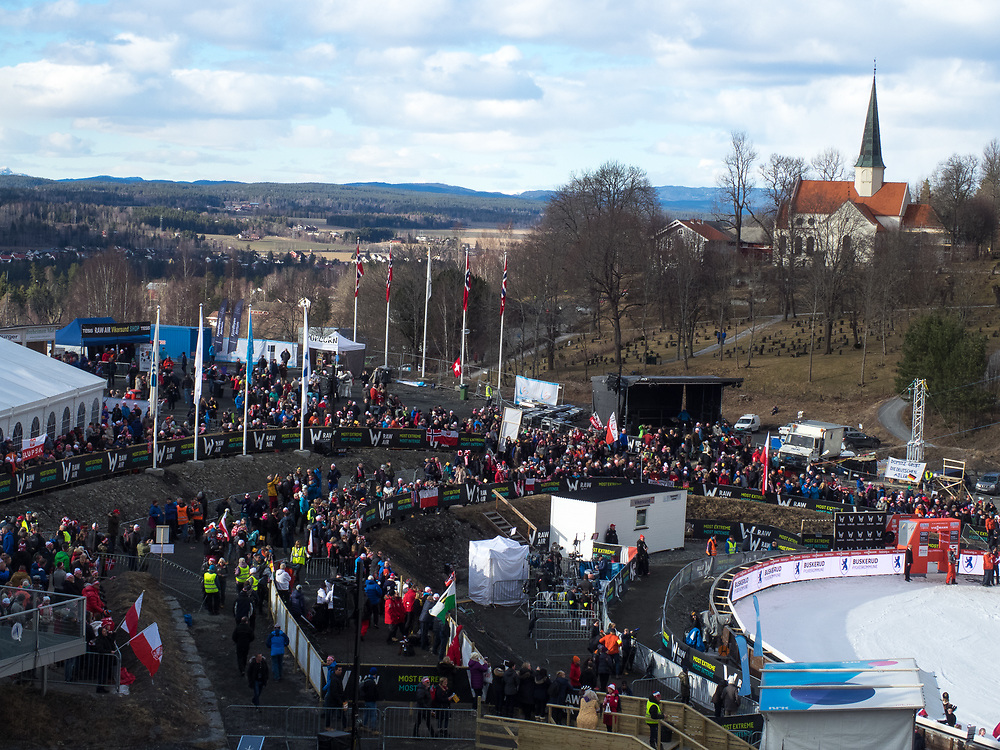 Raw Air photos from Vikersund Ski Flying Hill. Raw Air is a ten day ski jumping and ski flying tournament and is part of the World Cup competition. <br /> Raw Air 2017 was held in March 2017 in Norway at four different ski jumping hills - Oslo, Lillehammer, Trondheim and Vikersund. <br /> Vikersund Hill is a ski flying hill, in Modum, Norway. and it is the largest in the world. Nine world records have been set on this hill, with the current one at 253.5&nbsp;meters set by Stefan Kraft (Austria) on the 18th March 2017.