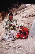 Tarahumara Indian woman and child.