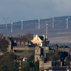 Stirling Castle with wind turbine, 2007