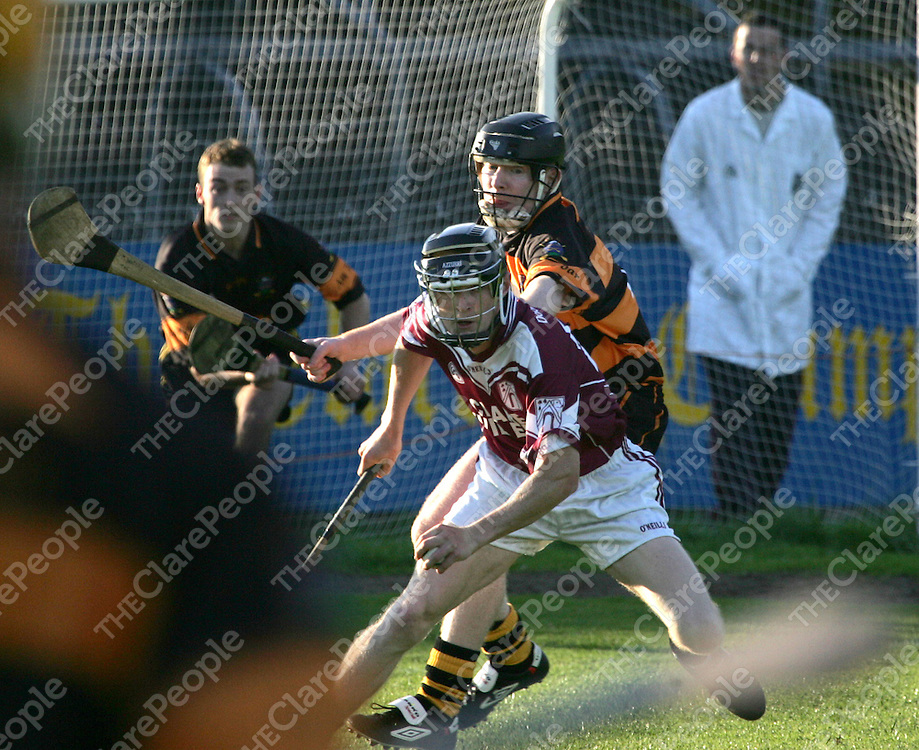 Tubbers John O'Connor and  St.Josephs/Doora/Barefields  no 26 not on the program in action during their Clare Senior Hurling Championship 2005 round 2 in Cusack Park Ennis.<br /> Pic.Brian Gavin/Press 22