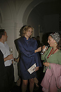 Bodil Blain, VIP opening of Bill Viola exhibition Love/Death: The Tristan project. Haunch of Venison, St Olave's College, Tooley St. London and Dinner afterwards at Banqueting House. Whitehall. 19 June 2006. ONE TIME USE ONLY - DO NOT ARCHIVE  © Copyright Photograph by Dafydd Jones 66 Stockwell Park Rd. London SW9 0DA Tel 020 7733 0108 www.dafjones.com