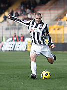 ITALY, Lecce :Chiellini J during the Serie A match between Lecce and Juventus at Stadio Via del Mare in Lecce on February 20, 2011. .AFP PHOTO / GIOVANNI MARINO